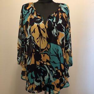 St John's Bay sheer blouse Petite Large
